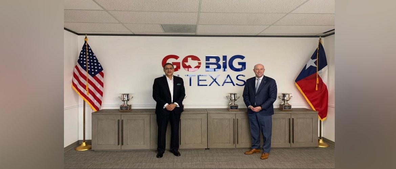 Consul General met Robert Allen, President, Texas Economic Devolopment Corporation on 26 February 2021.
