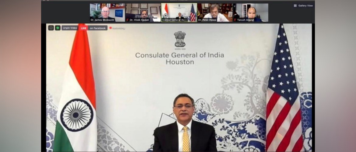 """Consul General participated in the webinar 'COVID : Vaccination and Potential Return to """"Normalcy"""" - If and When' organized by IACCGH."""