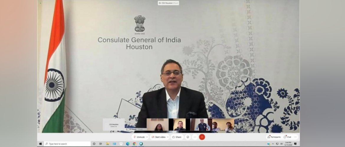 Consul General's interaction with Indo Americans organizations from cities across Texas,on 15 December 2020