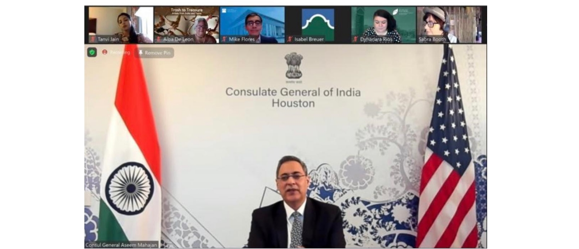 Consul General participated in a virtual conversation between artists in India and Texas organized by Alamo Colleges District on March 25, 2021