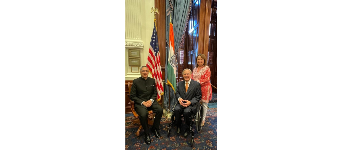 Governor of Texas,Greg Abbott signed a proclamation to celebrate the 75th Independence Day of India and highlighted the strong bond between India & Texas, on 13 August 2021