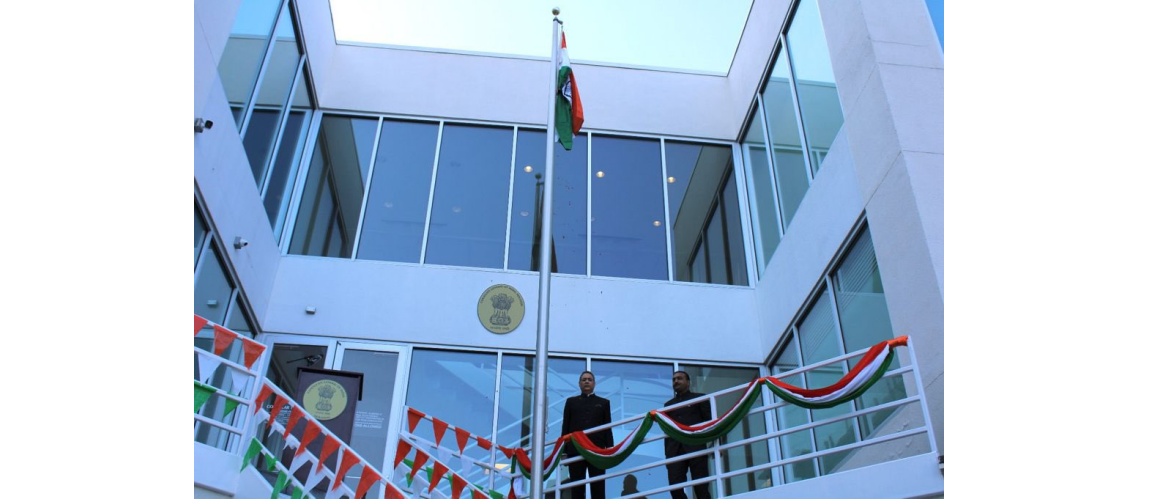 Celebration of the 75th Independence Day of India at the Consulate on 15 August 2021