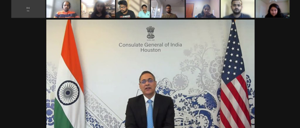 Consul General interacted with students and representatives of Indian Student Associations from universities across states in southern United States on September 16, 2021