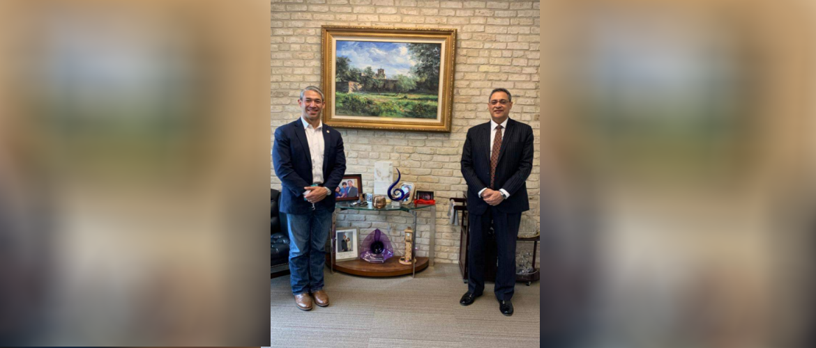 Consul General met with Mayor of San Antonio Ron Nirenberg and discussed avenues to strengthen the multifaceted ties between India and San Antonio, on  October 23,2020.