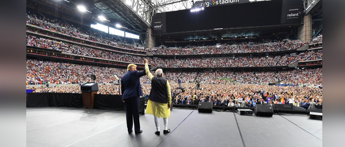 Prime Minister Modi and President Trump at Howdy Modi in Houston